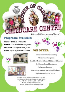 DAY CARE FLYER  2013